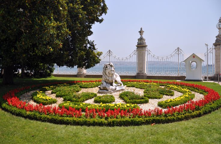 These are the Gardens of Dolmabahçe Palace. They are so beautiful because of their gardeners. The boss of the gardeners is a old knight from Florence, one of the best gardeners in Europe. His workers are from every nation, they just need to be good, gardeners with imagination and a lot of patience.