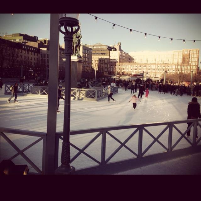 """Ice skating in """"Kungsträdgården"""" Stockholm City, Dec 2011"""