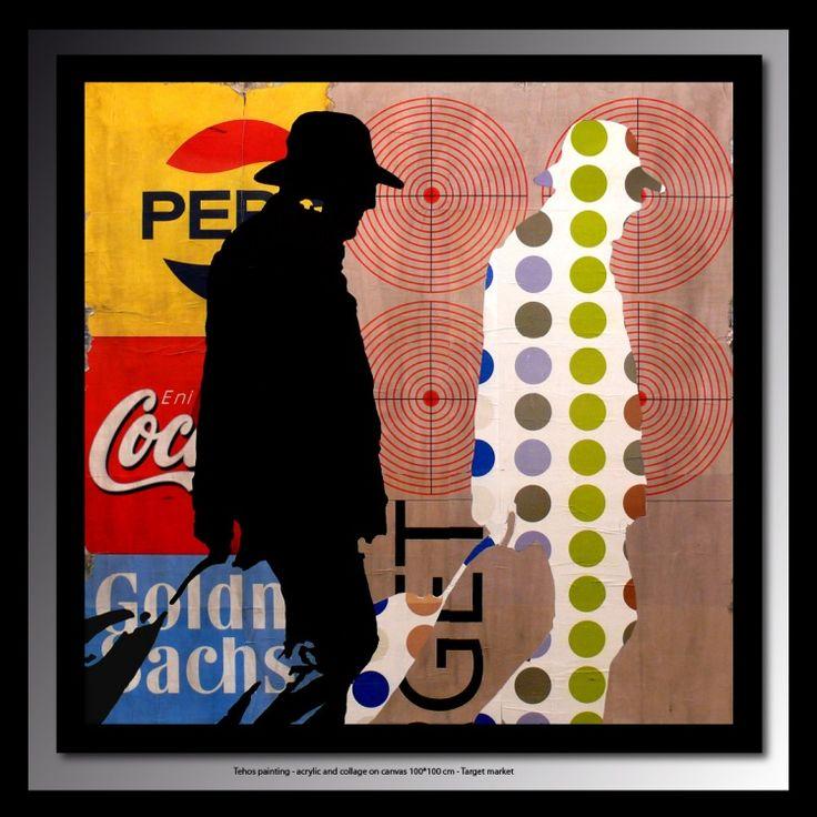 1000 id es propos de photos de collages sur toile sur for Tuto peinture mur