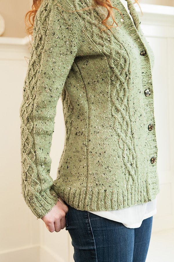 Knitpicks: Cabled Faux Argyle Cardi from City Tweed Collection. $