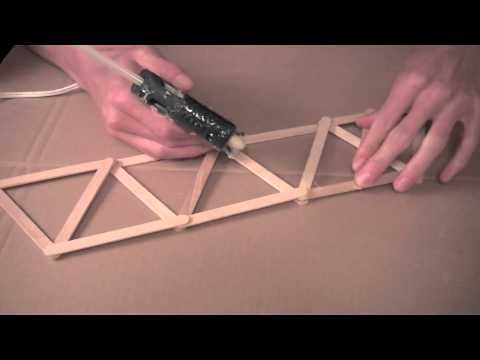 how to build a truss bridge with popsicle sticks sciencetific