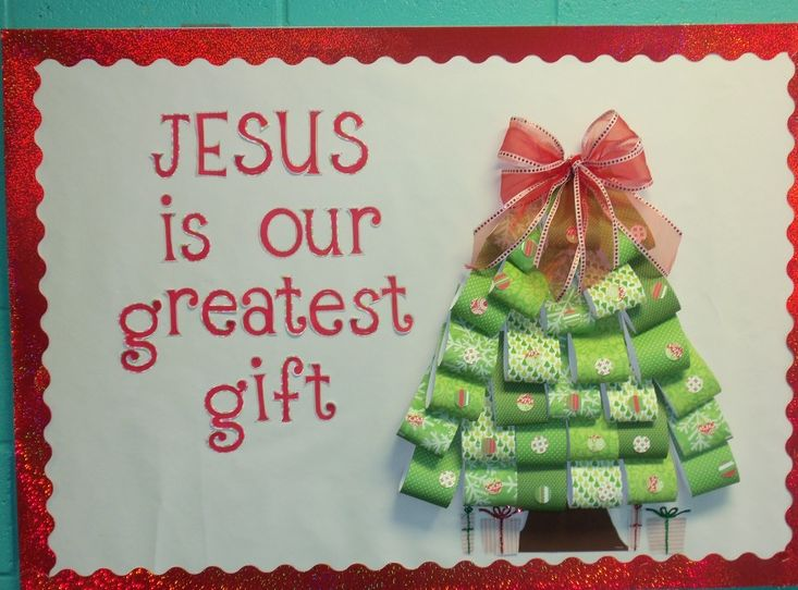 Creative Church Bulletin Boards | Christmas tree plates from For the Children
