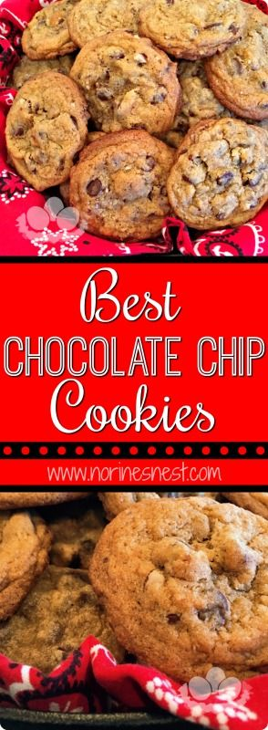 Crunchy and crisp around the edges...chewy, moist, and loaded with ooey-gooey chocolate chips...the perfect chocolate chip cookie...it's simply THE BEST!