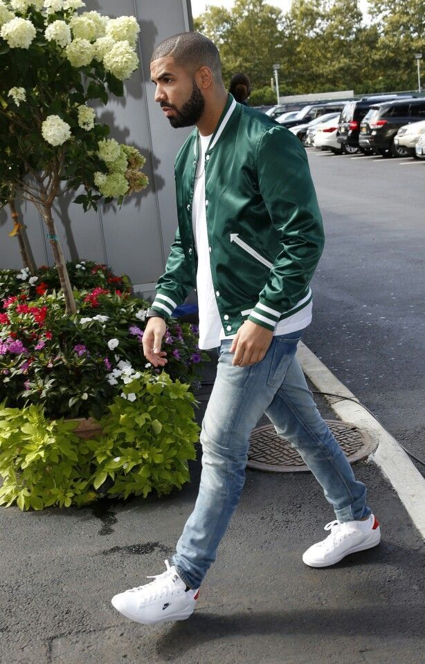 Green jacket. Drizzy Drake. The hotline bling rapper with the award winning smile and style. His lyrics are pretty dope too.