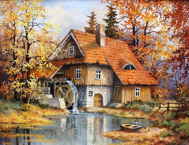 Stanisław Wilk SDB (b.1944) — Another Old Polish Mill, 2009 (1000×769)