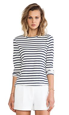 Shop for A.L.C. Dru Stripe Tee in White & Navy at REVOLVE. Free 2-3 day shipping and returns, 30 day price match guarantee.