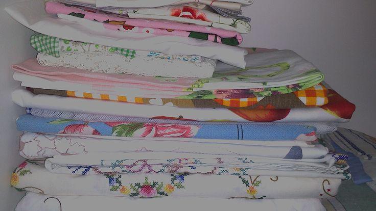 Some vintage tablecloths