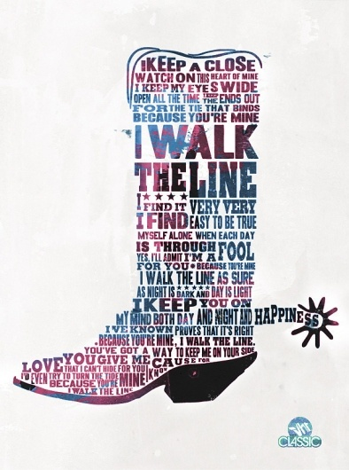 Lyrics on a shirt (i walk the line)