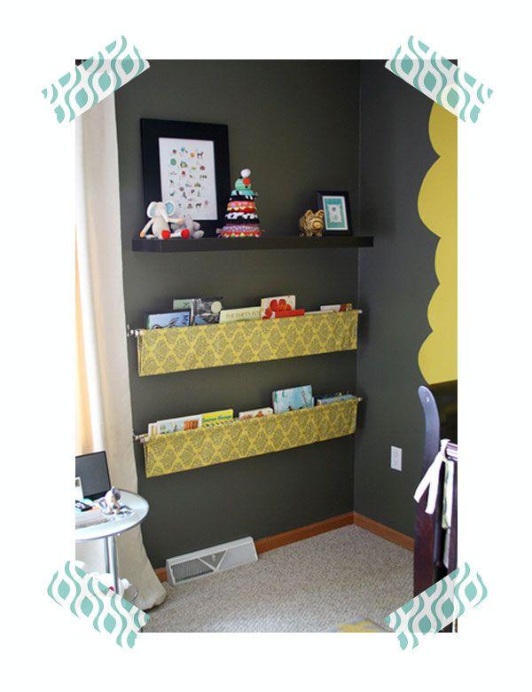 libreria de tela para la habitacion infantil