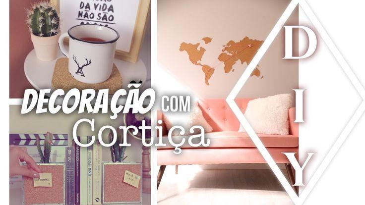 DIY : DECORAÇÃO COM CORTIÇA mural, apoiador de livro de caneca por dicadaka