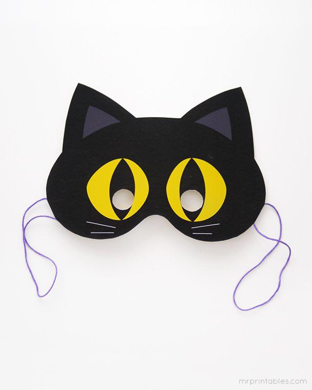 FREE printable halloween masks from Mr Printables!