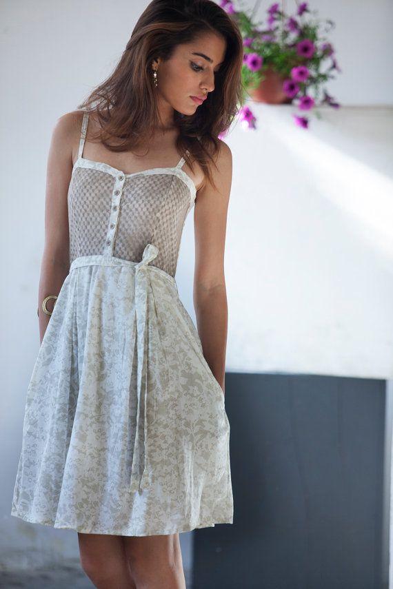 Sommerkleider kurz beige