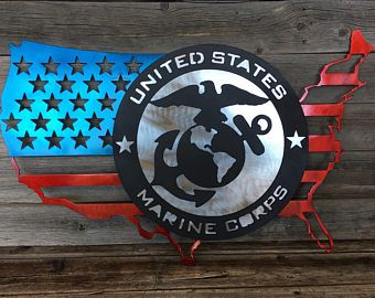 All Steel USA Marine Flag