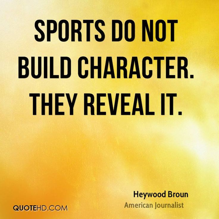 sport and character essay