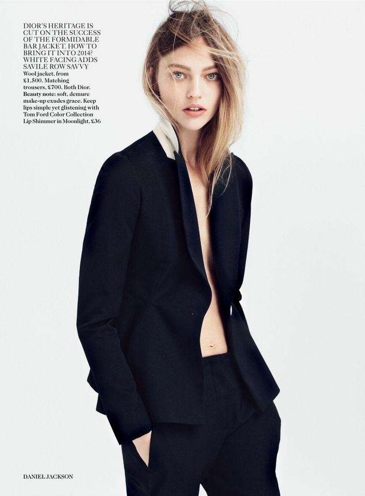 Vogue Uk Editorial July 2014 - Sasha Pivovarova by Daniel Jackson  Photographer: Daniel Jackson Fashion Editor/Stylist: Kate Phelan Model: Sasha Pivovarova Hair Stylist: Shon Makeup Artist: Hannah Murray