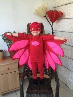 Owlette/máscara del traje. Inspira traje de PJ máscaras Super