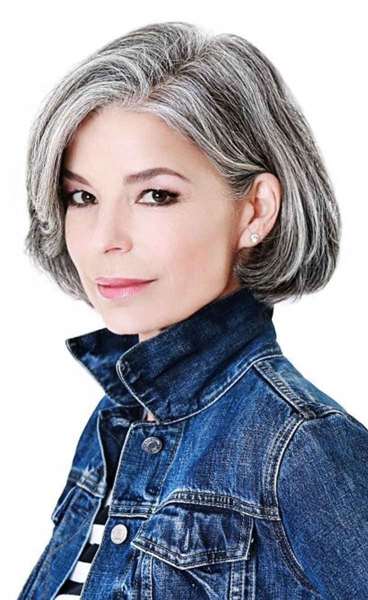 Best Hairstyles For Short Hair Images On Pinterest - Silver hair styles