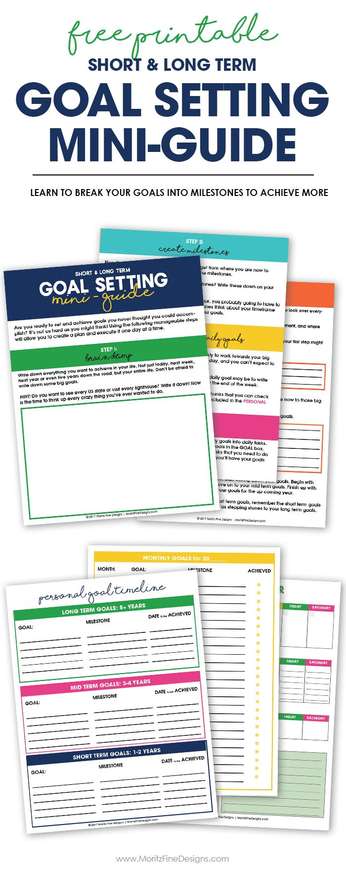 5 Steps To Creating Achievable Goals Free Printable Worksheets Free Goal Printables Goals Worksheet Smart Goals Worksheet [ 1758 x 700 Pixel ]