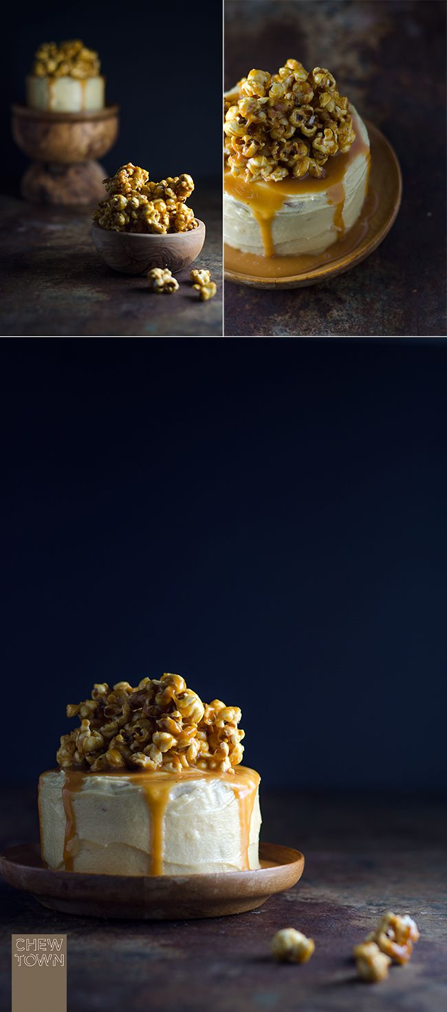 Popcorn and Salted Cajeta (Goat Milk Caramel) Cake