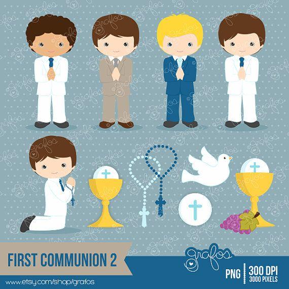 PRIMERA COMUNION 2 Digital Clipart, Primera Comunion Clipart / Descarga…