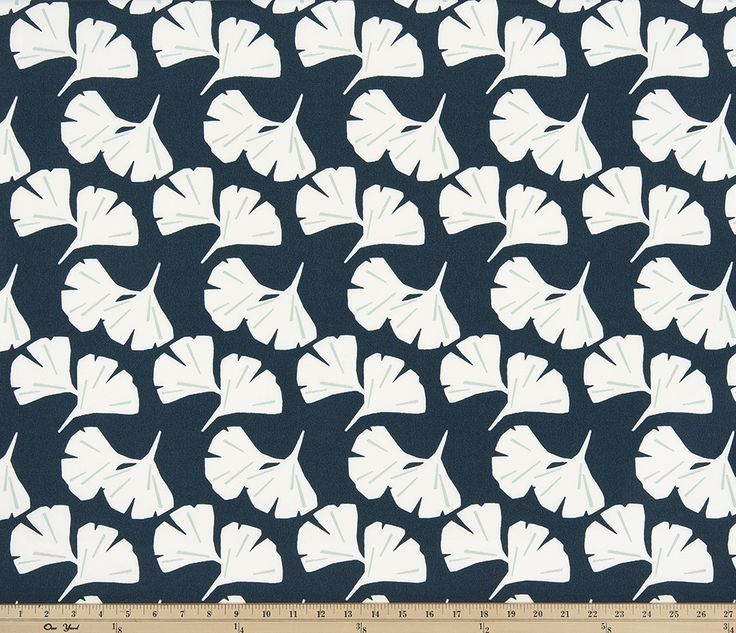 Outdoor Ginkgo Oxford Polyester Outdoor Fabric by Premier Prints