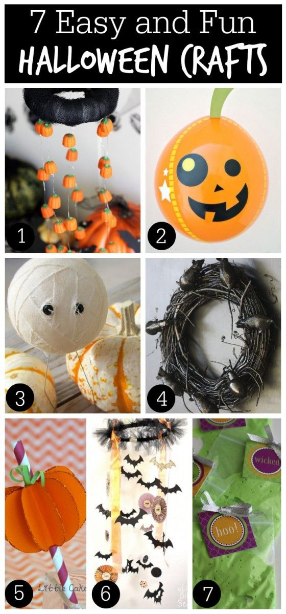 7 Easy and Fun Halloween Crafts! See more Halloween ideas at CatchMyParty.com.