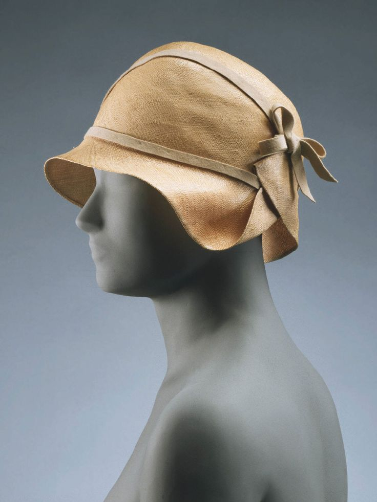 john wanamaker straw hat with wool felt ribbon | 1928 | #vintage #1920s #fashion