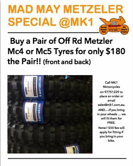 Metzeler Tyres on Sale @Mk1motorcycles.. MAY SPECIAL...