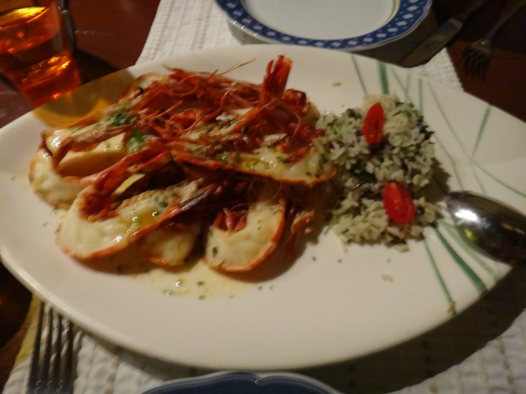grilled warm water lobster