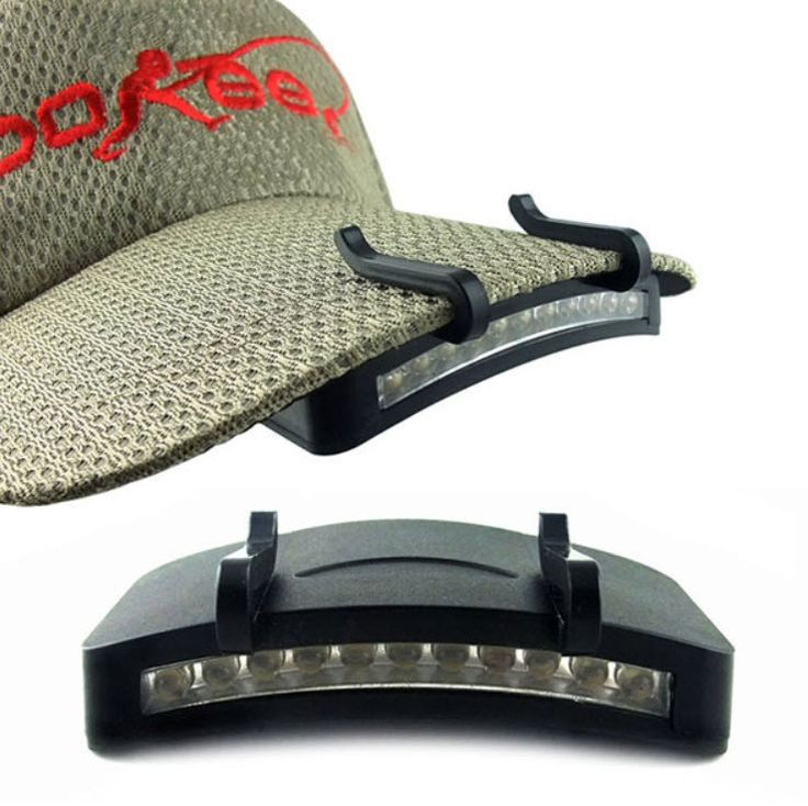 Clip-On LED Baseball Cap Headlight Hunting Camping Fishing Outdoors