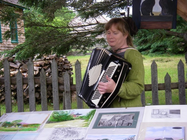 An accordion and artwork | New Ross Country Farmers' Market