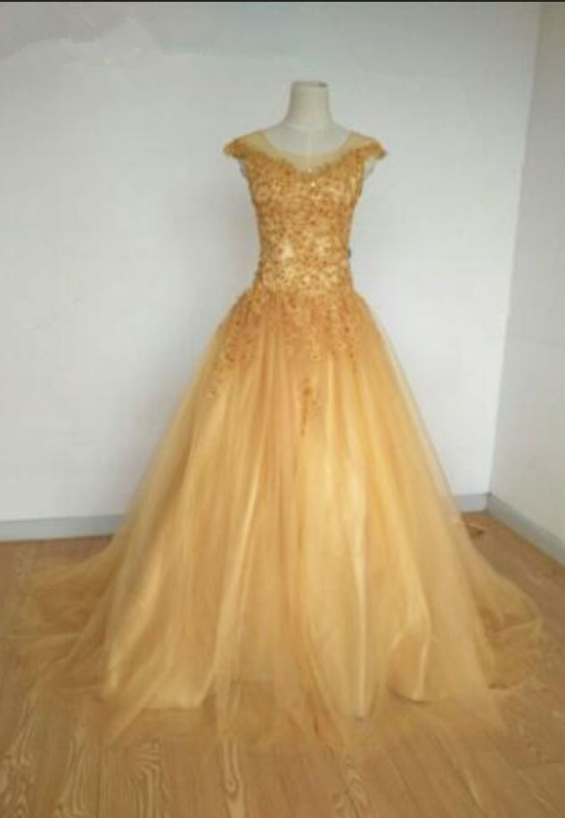 gold floor length dress Women's fashionable party evening dress you