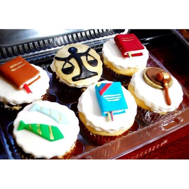 Law-themed cupcakes