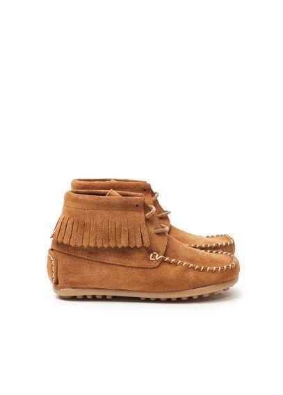MANGO KIDS - FILLE - Chaussures - BOTTINES EN DAIM À FRANGES