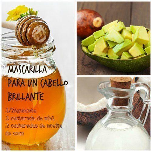 Mascarilla de aceite de coco, aguacate y miel para darle brillo a tu cabello.