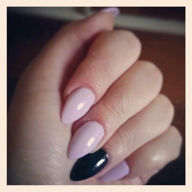 Fresh nails #blackandpink #prettyinpink #lovethem