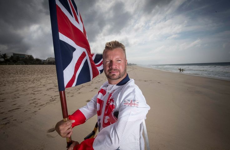 Lee Pearson Team GB Flag Bearer