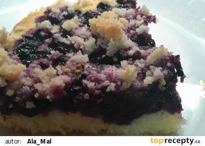 Borůvkový koláč od Aly recept - TopRecepty.cz