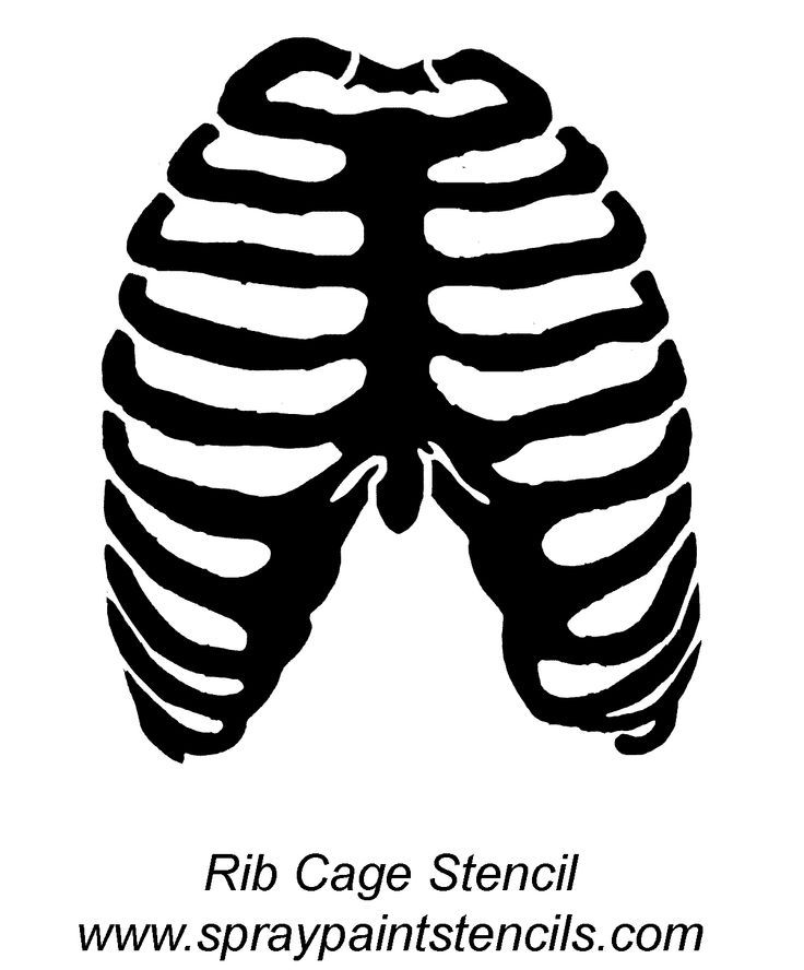how to draw a rib cage for kids