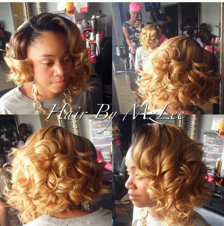 curly perfectly colored bob