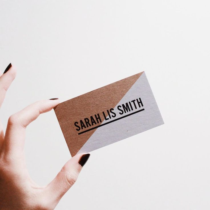 Natural Kraft business cards with white ink for Sarah Lis Smith in Vancouver, BC