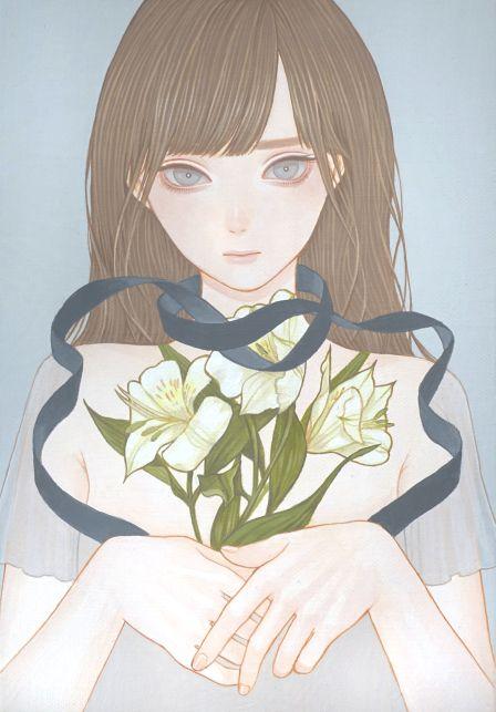 「奥底」 紺野真弓 Mayumi Konno 2016 158x227mm キャンバスにアクリル Acrylic on Canvas