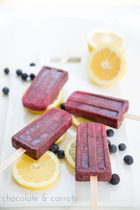 Lemon Blueberry Popsicles