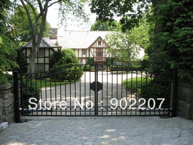Porta cancelli in ferro battuto, sicurezza cancello in ferro, ferro forgiato cancello. porta di ferro