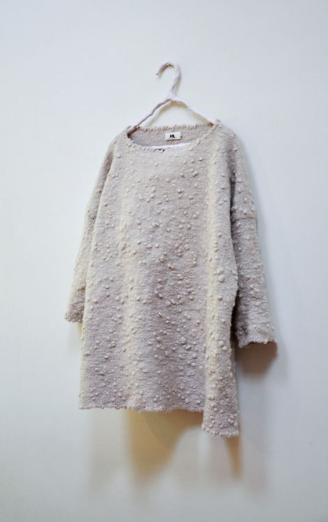 Amy Revier | Horn Pullover, tapestry-woven hand felt angora wool available at Dover Street Market)