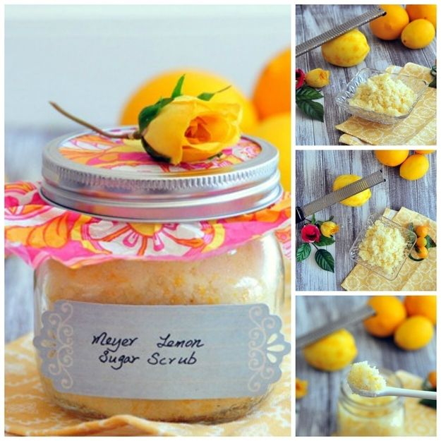 DIY lemon body scrub // 22 Perfect DIY Gifts For Stressed-Out Moms