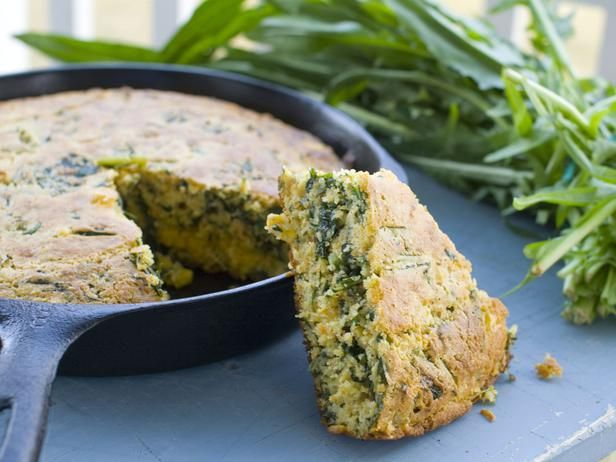 Dandelion Greens - The first fresh spring green here in Maine - many suggestions for how to use them and a recipe for Cumin-Dandelion Green Cornbread.