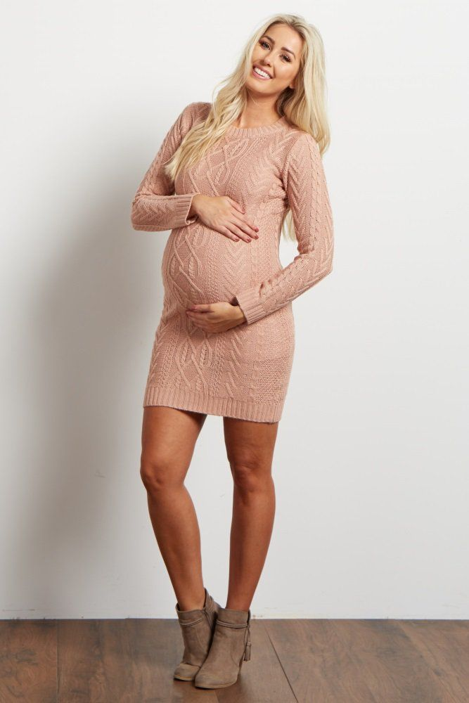 This maternity dress will be your ultimate cold weather essential this season. Dress it up or down for any occasion. Either way, you will stay warm and stylish in this knit maternity dress. Style with maternity leggings and boots for a casual look or dress it up with tights and heels for a night out.