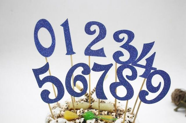 10pcs (0 9) Gold Silver Glitter Numbers Personalized Cake Topper Kit Wedding Birthday Cupcake Party Decorations-in Cake Decorating Supplies from Home & Garden on Aliexpress.com | Alibaba Group