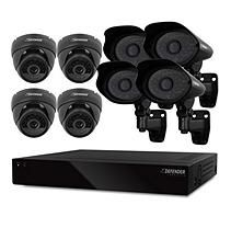 Defender 16 Channel Smart Security System with 1TB Hard Drive, 4 600TVL Dome Cameras, and 4 600TVL PRO Outdoor Cameras